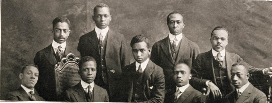 Members of the University of Pittsburgh chapter of Alpha Phi Alpha